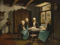 scène d'intérieur, les couturières by david adolf constant artz
