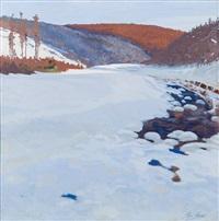 winterlandschaft by hugo baar