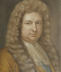 portrait d'homme en buste à la lavallière by wallerant vaillant