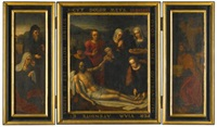 triptych with the lamentation by ambrosius benson
