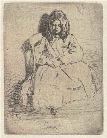 annie seated little arthur from the french set 2 works by james abbott mcneill whistler