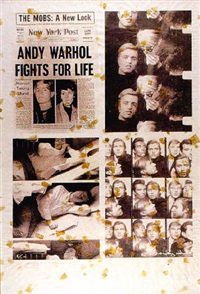 andy and friend in photobooth 68 by pietro psaier and andy warhol