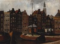 damrak in amsterdam by jan korthals