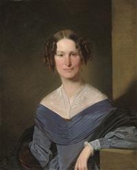 lady in blue by franz eybl