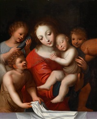 madonna mit schlafendem kind und drei engeln by flemish school-antwerp (16)