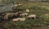 pigs in the mud by johannes frederik hulk the elder