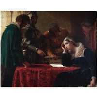 the abdication of mary queen of scots by joseph severn