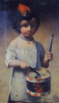 petite fille au tambour by jeanne bole