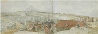 view of ramsgate pier (+ another; 2 works) by j. r. smith