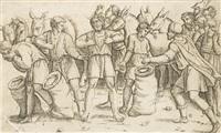 discovery of joseph's cup in benjamin's sack by giovanni antonio da brescia
