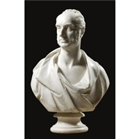 a bust of a man by william behnes