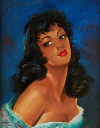 portrait de jeune femme by jules gustave lempereur