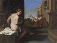 vénus au bain by sisto badalocchio