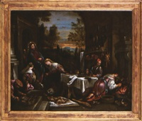 jésus chez marthe et marie by jacopo dal ponte and francesco bassano