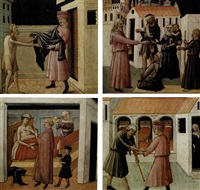 vestire gli ignudi (+ 3 others; 4 works) by mariotto di cristofano