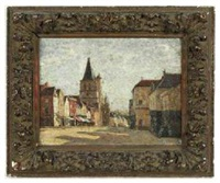 vue de village by alfred le petit