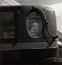funeral cortege, end of an era in a small valley town, california by dorothea lange