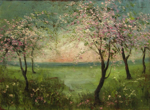 trees in blossom by eugenia filotti atanasiu
