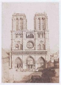 notre-dame de paris, façade occidentale pendant les travaux by charles nègre