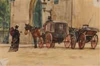 l'arrivée à la messe by gaston gélibert