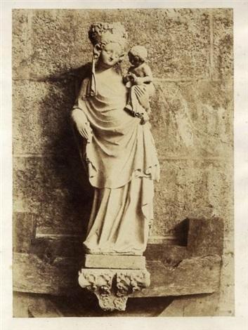 notre dame de paris la vierge de saint aignan by charles nègre