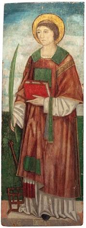 der hl diakon und märtyrer laurentius by alvise vivarini
