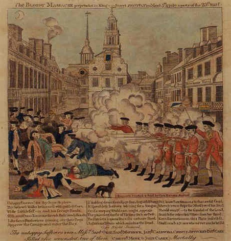 the bloody massacre perpetrated in king street boston by paul revere