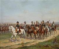 napoleon leading his troops by paul emile léon perboyre