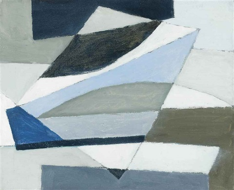 blue and black abstract by michael canney