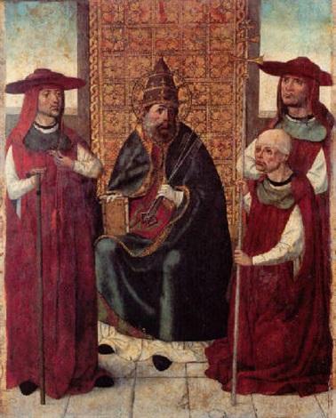 el cardenal don pedro de mendoza orando ante san pedro by hispano flemish school 15