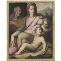 the holy family with the infant saint john the baptist by giovanni battista di matteo naldini