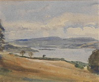 view of the sound of mull by frederic whiting