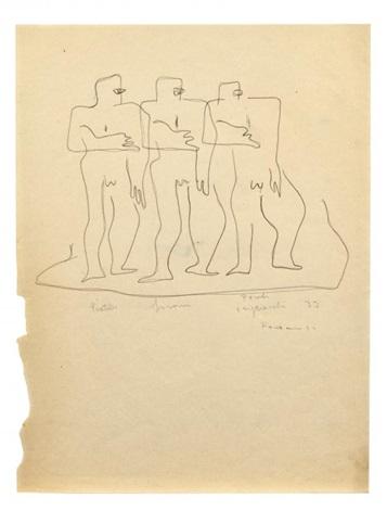tre uomini by lucio fontana