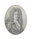 james drake frs (1667-1707), wearing coat, chemise, stock and cravat, billowing mantle and full-bottomed wig by thomas forster