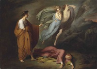 dante and virgil meet francesca da rimini and paolo malatesta by ary scheffer