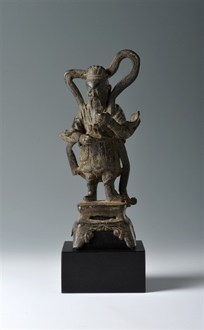 a bronze figure of a heavenly generalbrlate ming dynasty early 17th century height 20 cm