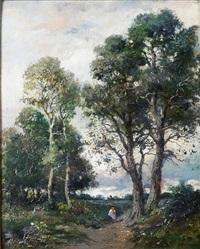 croisée des chemins à l'orée de la forêt by lászló paál