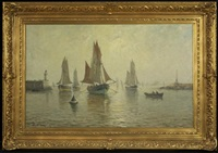 french harbor scene by amélie burdin