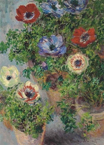 anémones en pot by claude monet