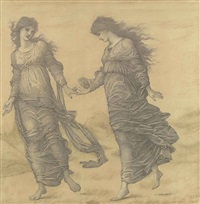 courtesie and fraunchise (courtesy and frankness) in the garden of idleness by edward burne-jones