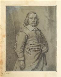 three quarter length portrait of a gentleman by cornelis visscher