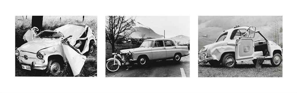 sammelnummer von drei fotografien stansstad 1967 stans 1959 wolfenschiessen 1957 aus der serie karambolage by arnold odermatt