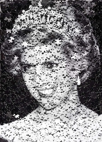 diana gordian puzzle by vik muniz