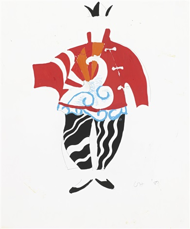 sketch for chinese conjuror from parade triple bill by david hockney