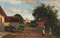 en landsbygade by albert gottschalk