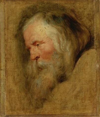 head of caspar the eldest magus study by sir peter paul rubens