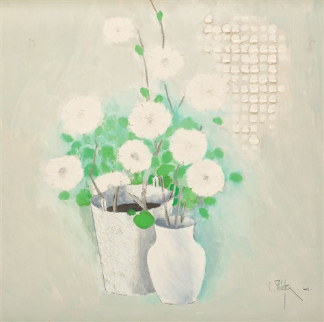 white flowers by constantin piliuta