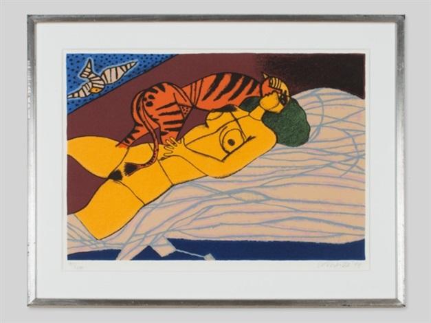 la femme avec le tigre by corneille