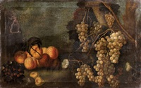 nature morte aux raisins by girolamo da lodi