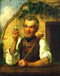 portrait eines weinhauers by ernst lafite